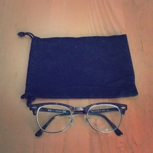 Ray Ban tortoise clubmaster RX frames